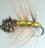 Pulsating Caddis -olive #12 /DR 42