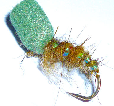 12 Pack Black /& Olive Suspender Buzzer Trout flies Choice of Sizes Fly Fishing