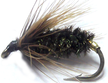 Coch-Y-Bondhu,wet fly  #12 (W38)