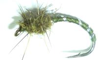 Buzzer flashback-  Olive Hares ear,Silver Rib  #12 [BST19]