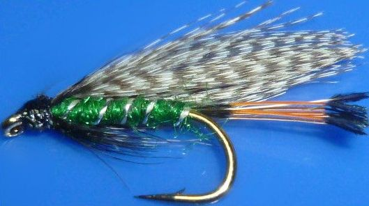 Teal and Green,wet fly  (W 45)
