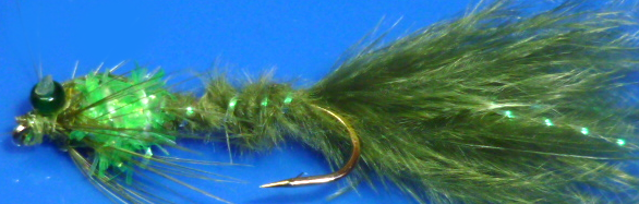 Damsel ,weighted,Hackled,fritz collar Size 10  [D 39]