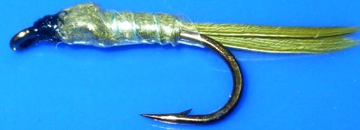 Pond Olive, nymph,shuck /N43