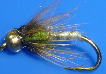 Wickams Fancy Goldhead #14,wet fly  (W 48)