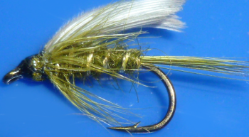 Olive #14,wet fly  (W 49)