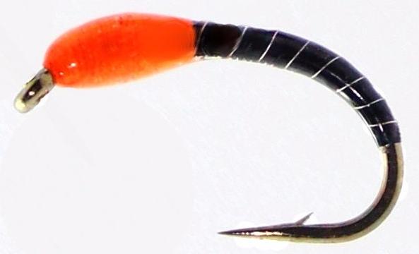 Okey Dokey ,Black -Orange  ,Silver wire  #12 [OD12]