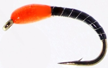 Okey Dokey ,Black -Orange  ,Silver wire  #14 [OD12]