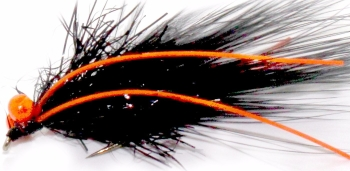 Black,shaggy cat ,straggle  fritz lure Orange  Hot head  [lur 4]