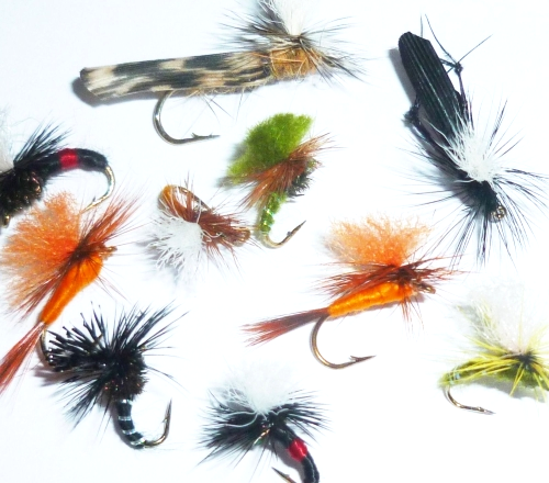 Klinkhammer's and Parachutes, 10 xTrout flies , assorted patterns