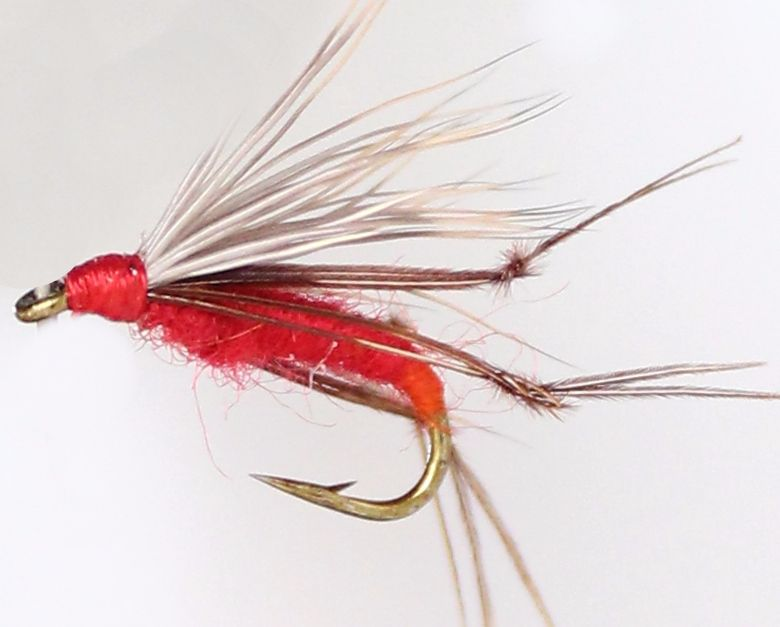 Deer hair hopper, Red  [HOP21]
