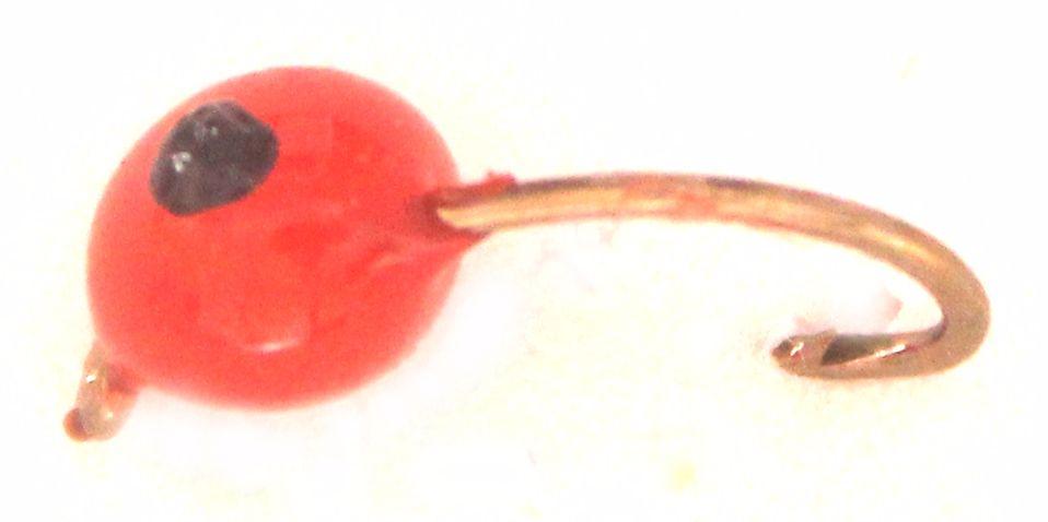 Egg Fly - Hot Glue , Red /Black spot  E42