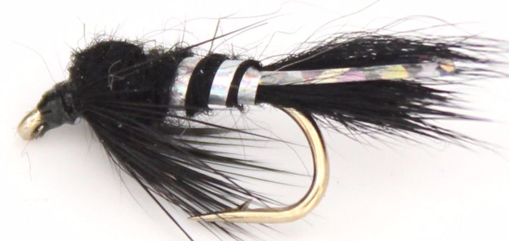 Hares ear - Black-Holographic Silver  #12 /N22