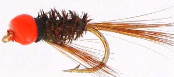 Diawl bach ,Hot head orange bead#12/ D48