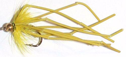 Daddy long legs - Gold head vibrator - Yellow  [ DV7]
