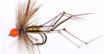 Daddy long legs  Orange Bead head, standard [ VD 14]