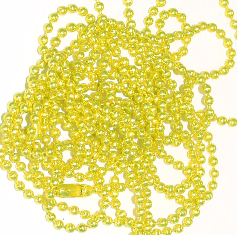 Chartreuse Chain , 2mm