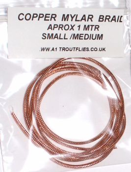 Copper Mylar braid ,small/medium