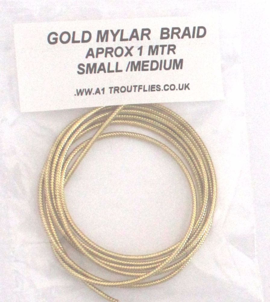 Gold  Mylar braid ,small/medium
