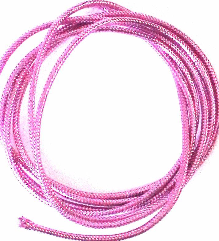 Pink Mylar braid ,small/medium