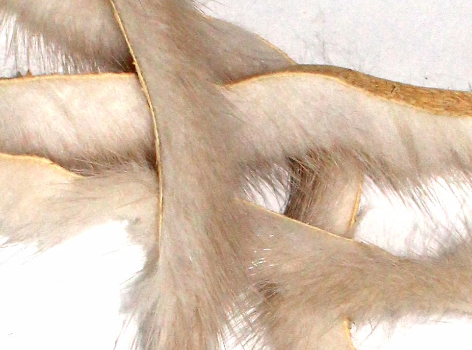Natural white mink strips  x 1 mtr pack