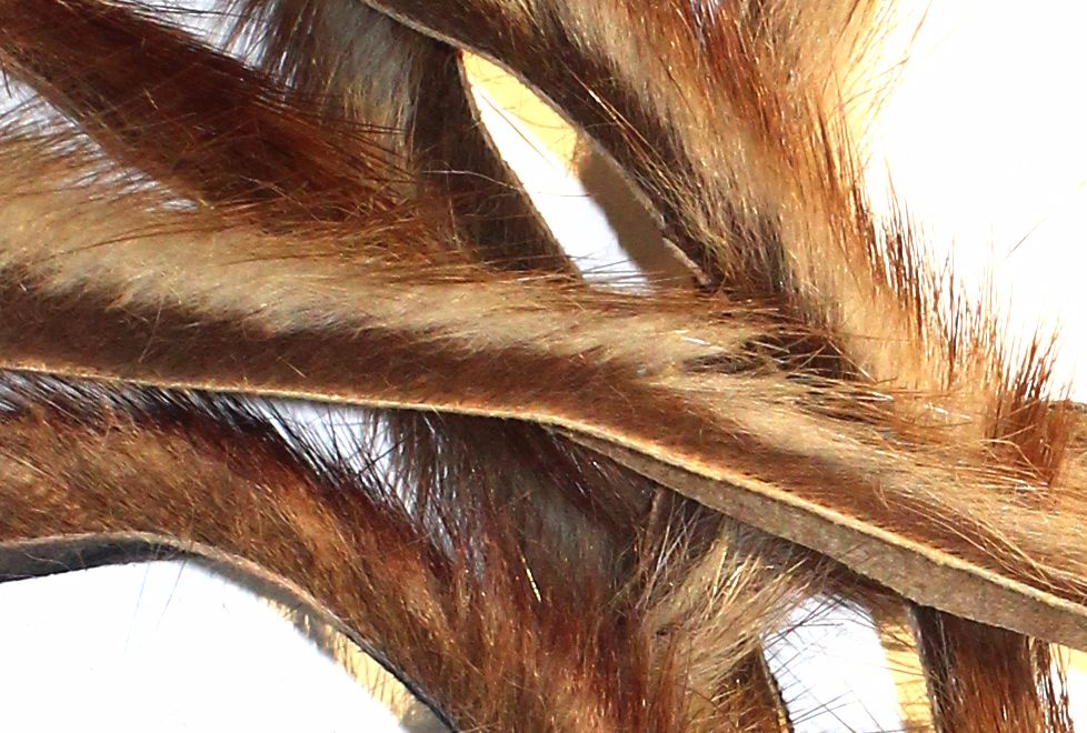 Natural Brown mink strips  x 1 mtr pack