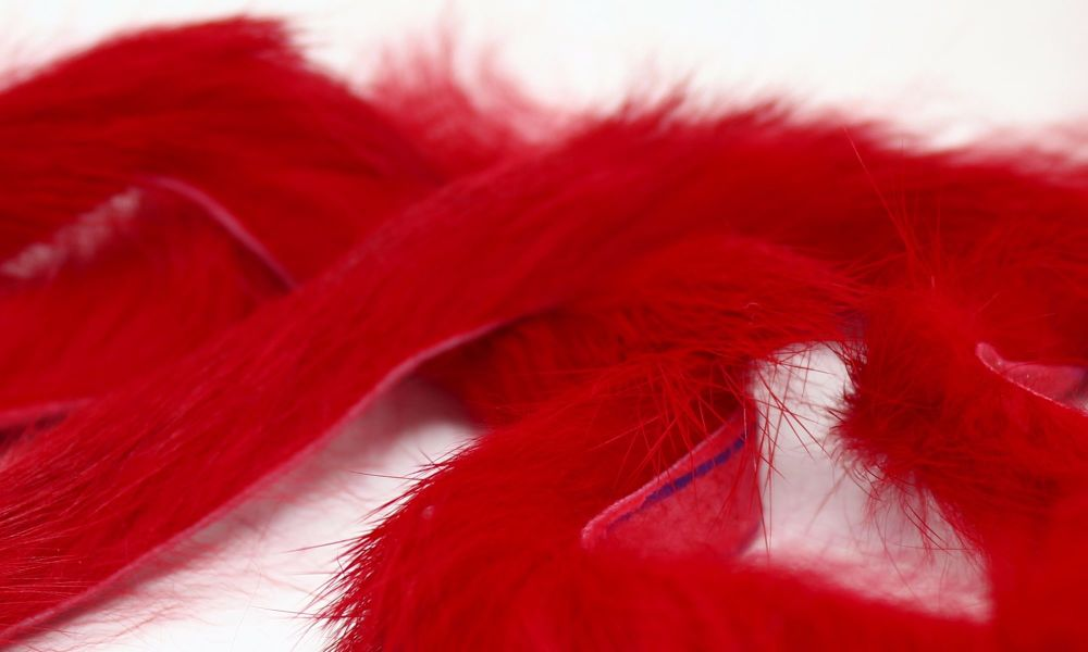 Red Rabbit zonker strips ,Straight cut x 1 mtr pack