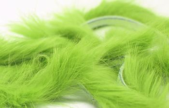 Chartreuse Rabbit zonker strips ,Straight cut x 1 mtr pack