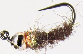 Grayling fly, Sparse Brown and silver, Tungsten  [GR13]