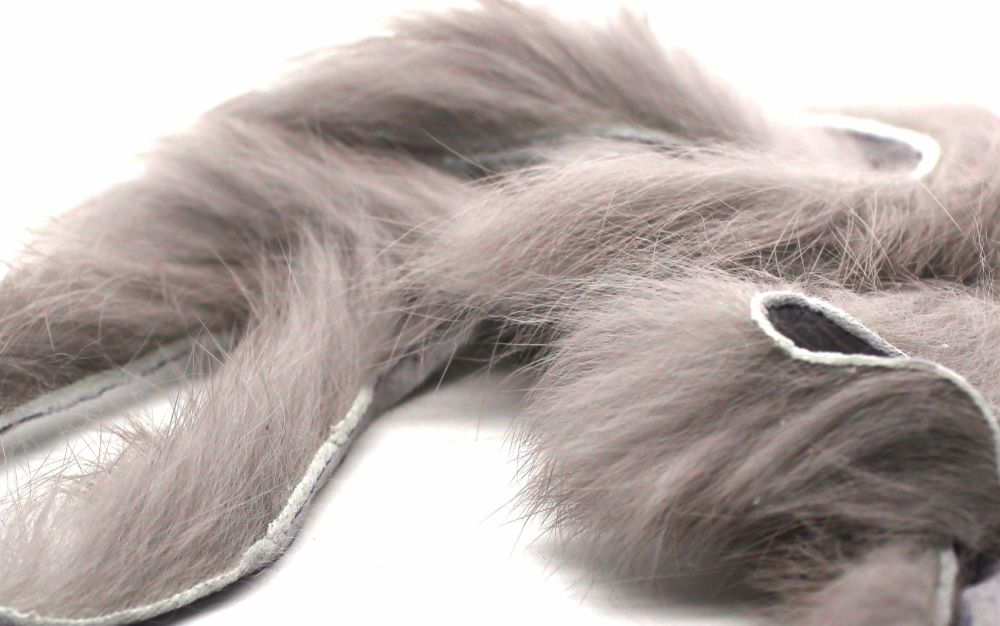 LT Grey Rabbit zonker strips ,Straight cut x 1 mtr pack