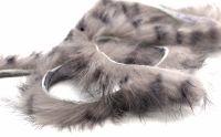LT Grey Rabbit zonker strips [black barred] ,Straight cut x 1 mtr pack