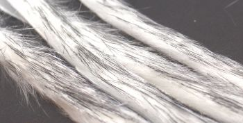 White ,Black tip,Rabbit zonker strips ,Straight cut x 1 mtr pack