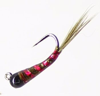 Grayling fly,Olive ,Red Tungsten  [GR12]