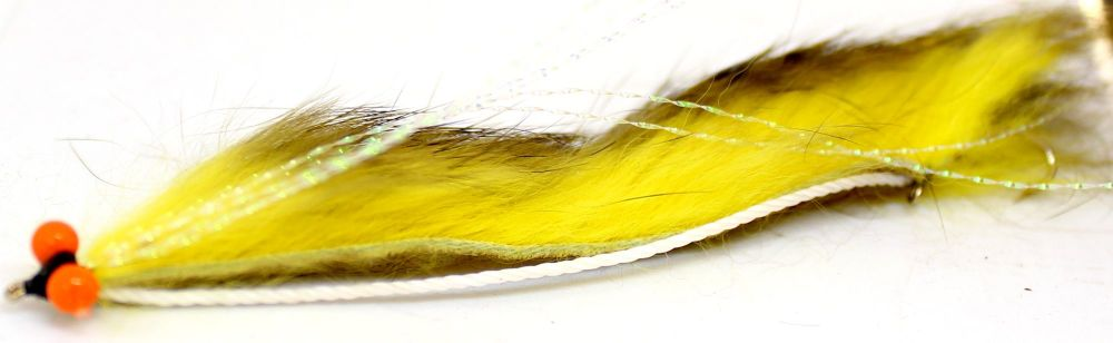 Snake fly-Tiger barred Yellow /Olive ,Orange hot head [SF 18]