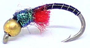 Gold head buzzer-Black and Peacock #10  [BH8]