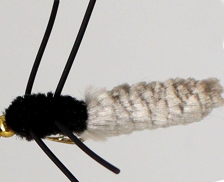 Wotsit, Mitten, Mop Fly , Grey /rubber legs [mop 6]