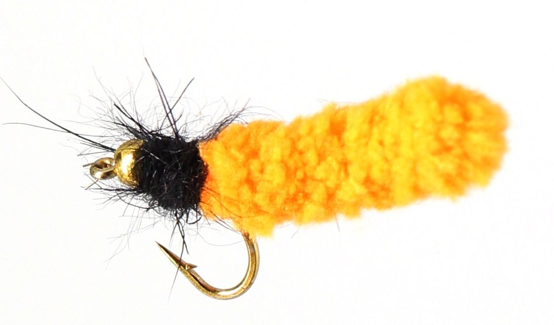 Wotsit, Mitten, Mop Fly , Orange/ Black [mop 8]