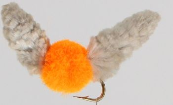 Wotsit, Mitten, Mop Fly , Orange ,Grey, egg / [mop 11]