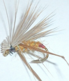 Deer hair hopper,Yellow with  Red tag  [HOP22]