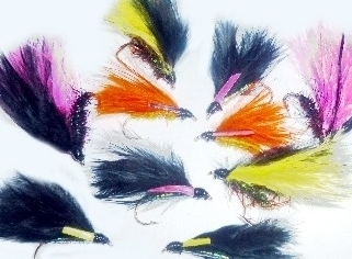 Cormorants  10  xTrout flies ,assorted patterns