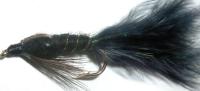 Damsel - Black Marabou/Crystal flash/ no eyes /DAM 11