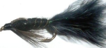 Damsel - Black Marabou/Crystal flash/ no eyes /DAM 11