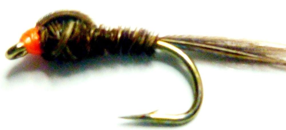 Pheasant tail nymph, Orange head /N17