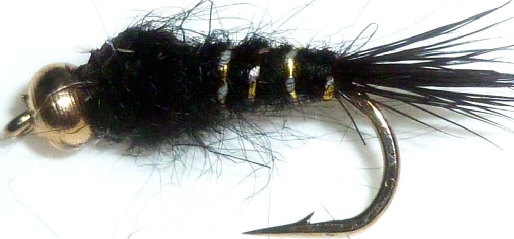 Gold ribbed hares ear -Gold head- Black /N6