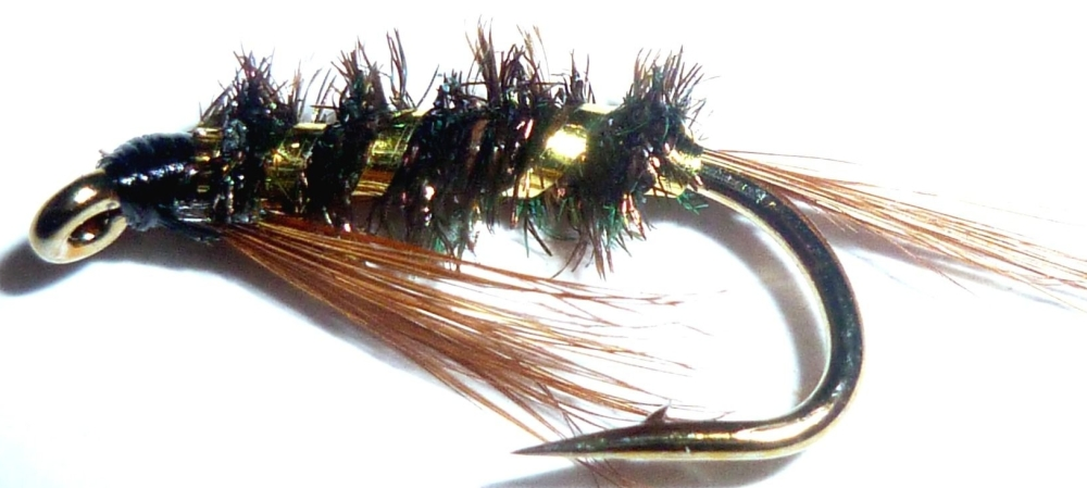 Diawl Bach-Gold ribbed #12 / D15