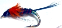 Diawl bach,Orange marabou buds  #12 / D25