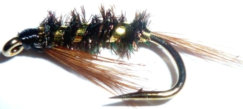 Diawl Bach-Gold ribbed #14 / D15
