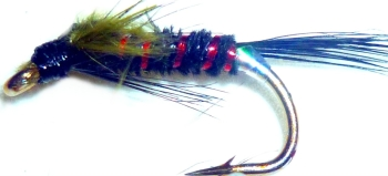 Diawl bach,Olive marabou buds #14 / D29