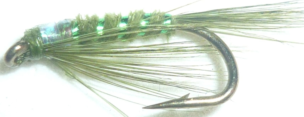 Olive holographic Diawl bach #14/ D32
