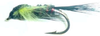 Diawl Bach,LT Olive marabou Buds #12 / D41