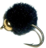 Egg Fly - Black - Weighted  7 MM/ E6